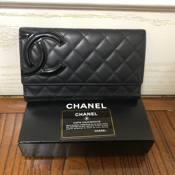 a9eeb7ee8631 CHANEL Bags | Calfskin Quilted Cambon Trifold Wallet Black | Poshmark